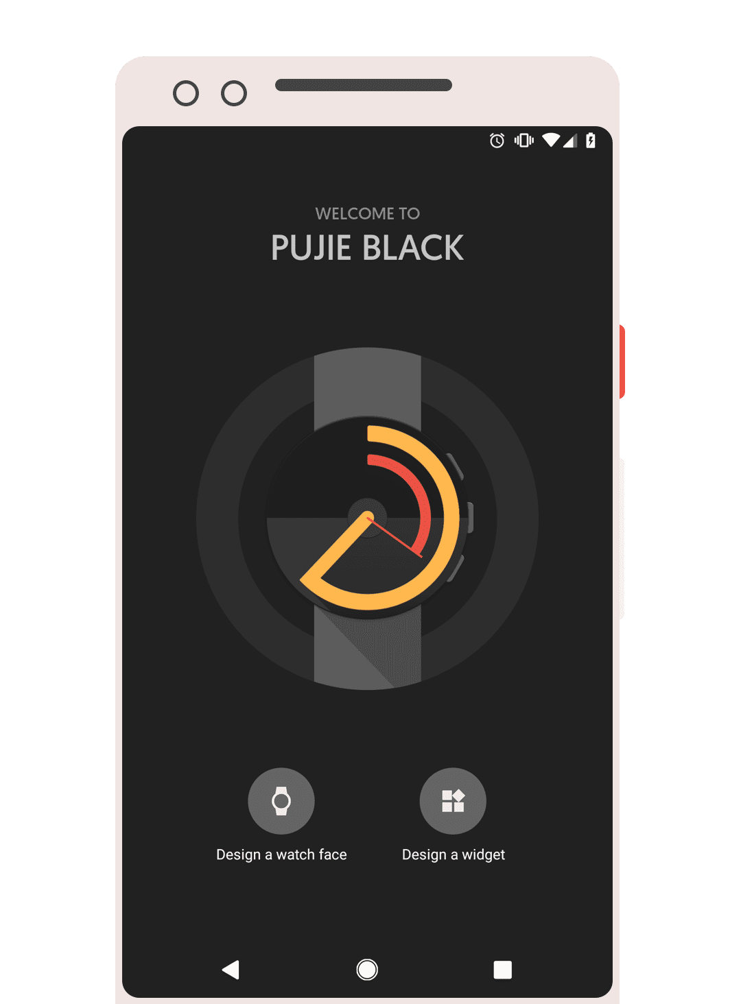 Pujie Black intro screen