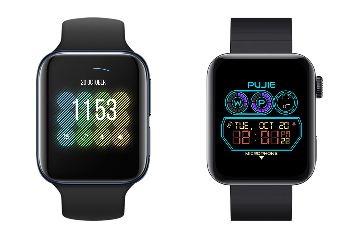 Pujie Black for Rectangular watches